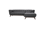 Kano Sectional Sofa (Seaside Grey - Right Facing Chaise) Frame Legs - TB3 Home