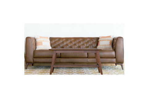 Fargo Chesterfield Genuine Leather Sofa - TB3 Home