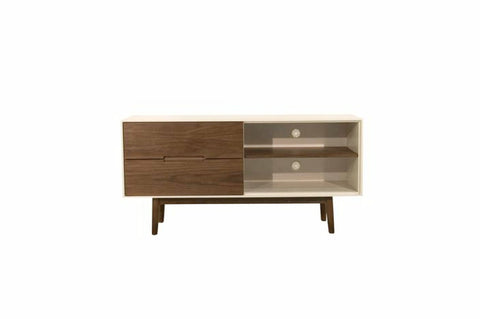 Hendrick TV Stand (Small - White Walnut) - TB3 Home
