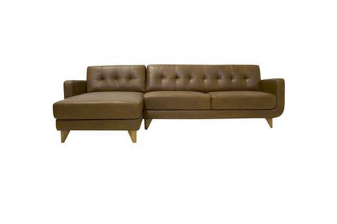 Cassie Leather Sectional Sofa Left Chaise - TB3 Home