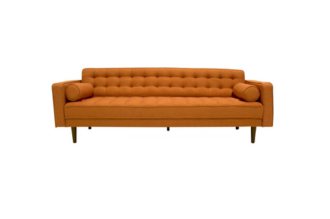 Bradley Mid Century Modern Sofa (Orange) - TB3 Home