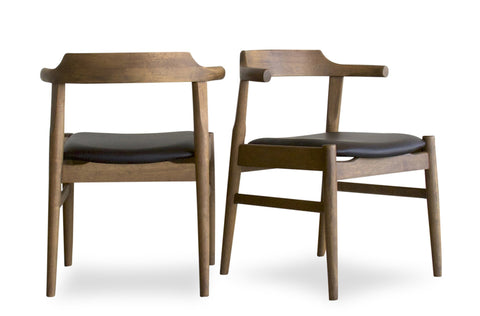 Zola Dining Chair Set of 2 (Dark Chocolate Leather) - TB3 Home