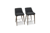 "Bramwell Counter Stool 25"" (Dark Grey - Set of 2) - TB3 Home"