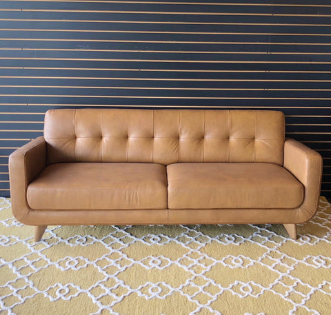 Cassie Leather Sofa - TB3 Home