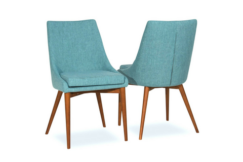 Bramwell Dining Chairs (Turquoise - Set of 2) - TB3 Home