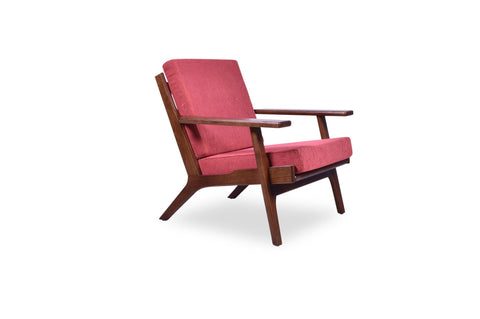 Olson Lounge Chair (Red Orange) - TB3 Home