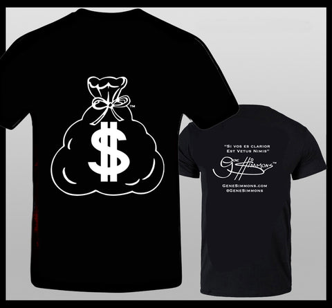 Gene Simmons MoneyBag T-Shirt BW