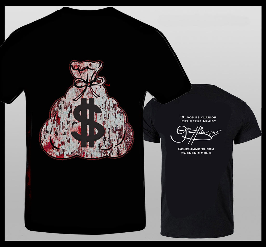 Gene Simmons MoneyBag T-Shirt Red/White