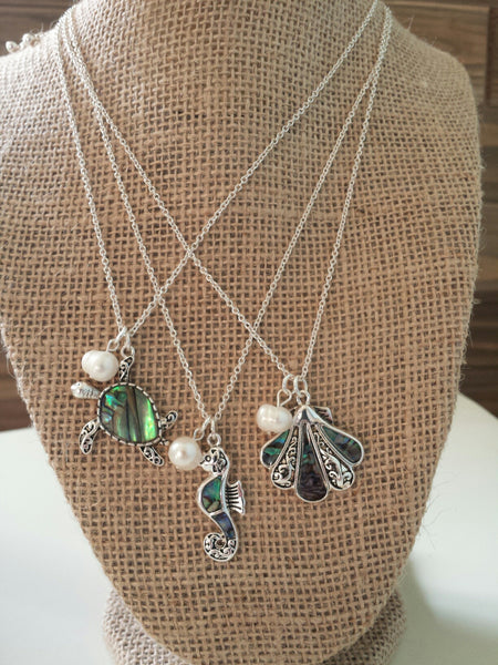 """Abalone Sea Life"" Necklaces"