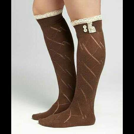 """Cup Of Cocoa"" Boot Socks"