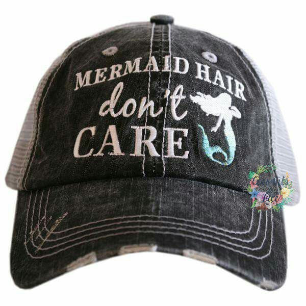"""Mermaid Hair, Don't Care"" Trucker Hat"
