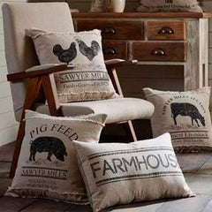 Pillows & Throws by VHC Brands - Appleseed Primitives