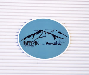 Seward/ Mt. Marathon Sticker - Headband Happy AK