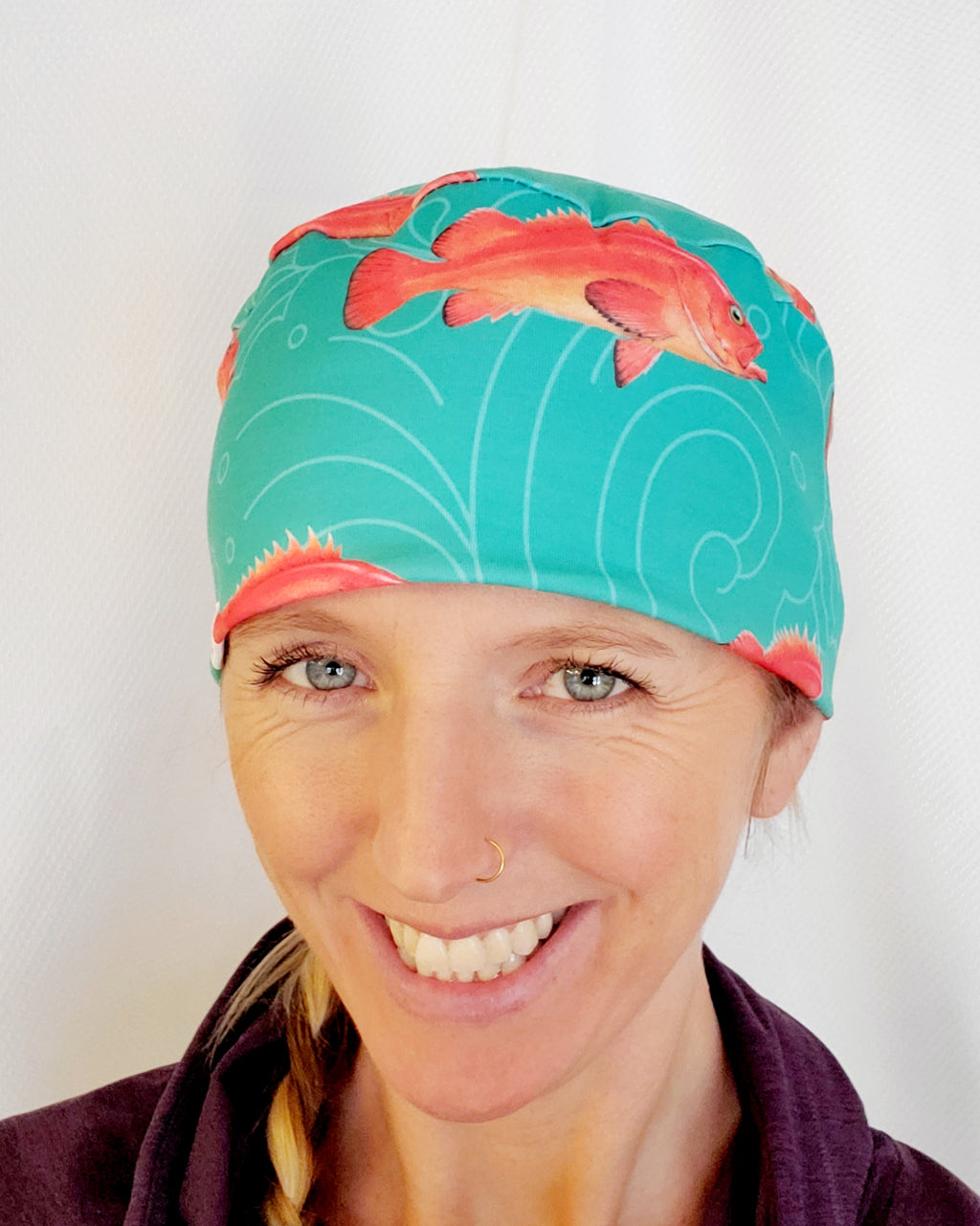 Cap/ Nurse/ Surgical/ Cancer Cap/ Dental - Headband Happy AK