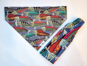 Salmon Dog Bandana - Headband Happy AK
