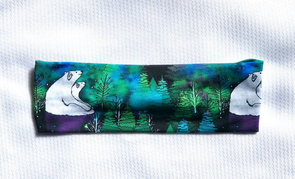 Polar Bears and Northern Lights - Headband Happy AK