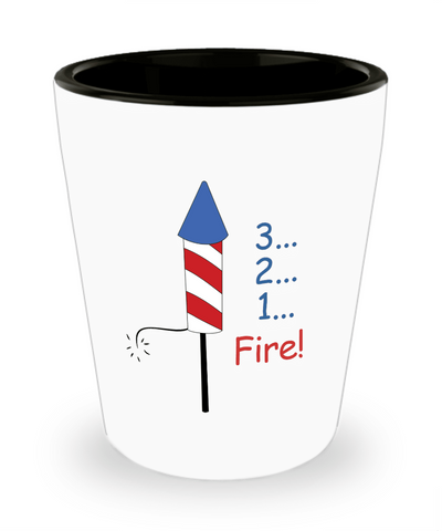 3 2 1 Fire Shot Glass