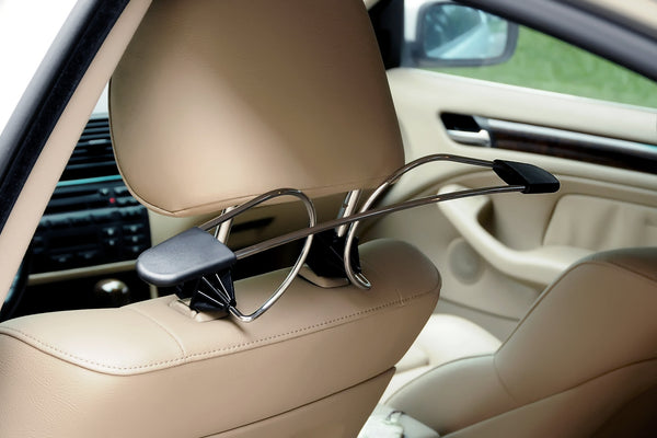 Auto Coat Valet Quick-Snap Car Headrest Coat Hanger Installs In 10 Seconds