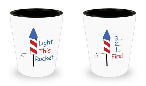 Patriotic Shot Glasses Set of 2