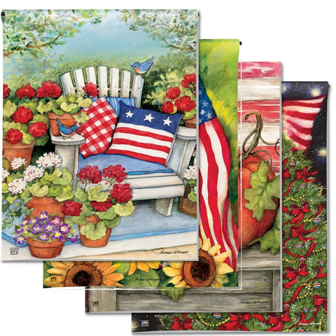 Garden Flags for Every Season - Patriotic (4-Flag Bundle)