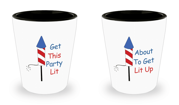 Patriotic Shot Glasses 2 Pack