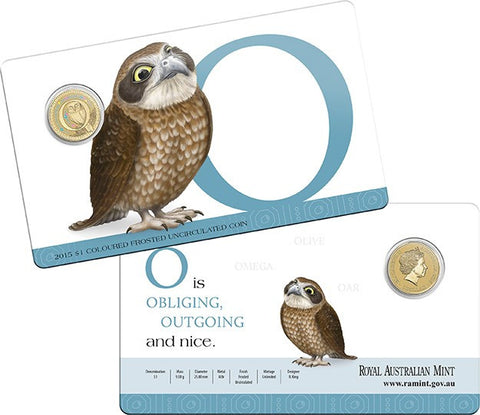 2015 Alphabet Collection $1 Coin Letter O