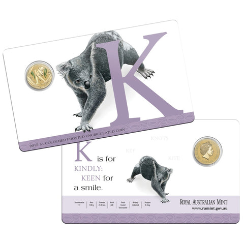 2015 Alphabet Collection $1 Coin Letter K