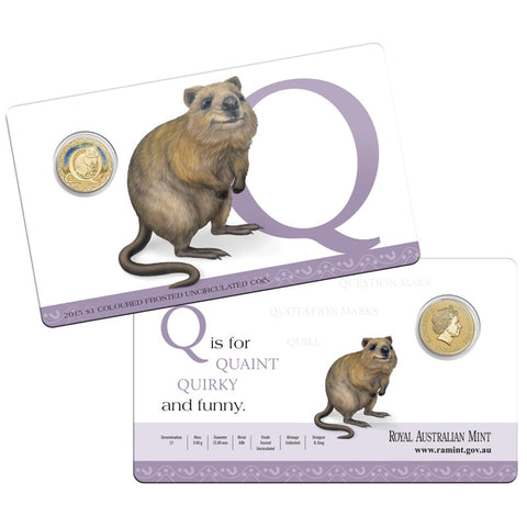 2015 Alphabet Collection $1 Coin Letter Q