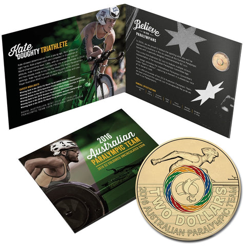 2016 Paralympic Team $2 Coin Folder