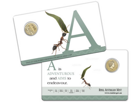 2015 Alphabet Collection $1 Coin Letter A
