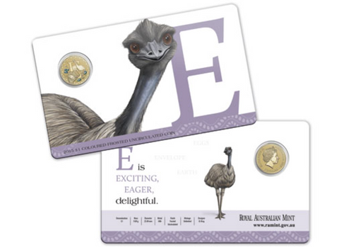 2015 Alphabet Collection $1 Coin Letter E
