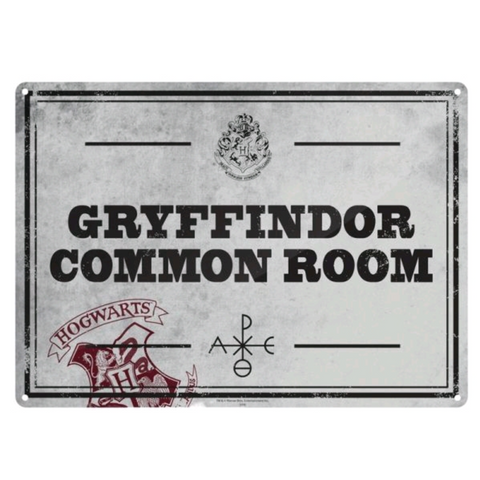 Harry Potter Tin Sign - Gryffindor Common Room