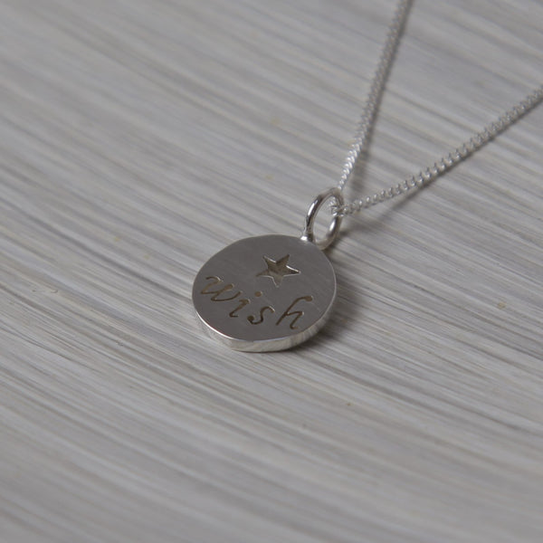 Wish Disc Pendant on Chain