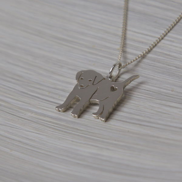 Puppy pendant on chain