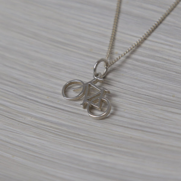 Bicycle Pendant On Chain
