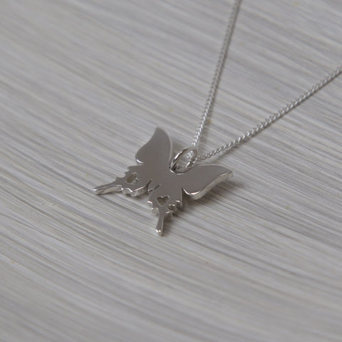 Butterfly Pendant on Chain