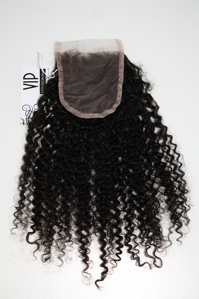 Mongolian Kinky Curly Lace Closure - back
