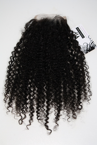 Mongolian Kinky Curly Lace Closure - front