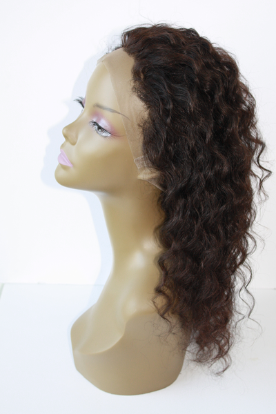 Girl wearing deep wave hair side view-vip