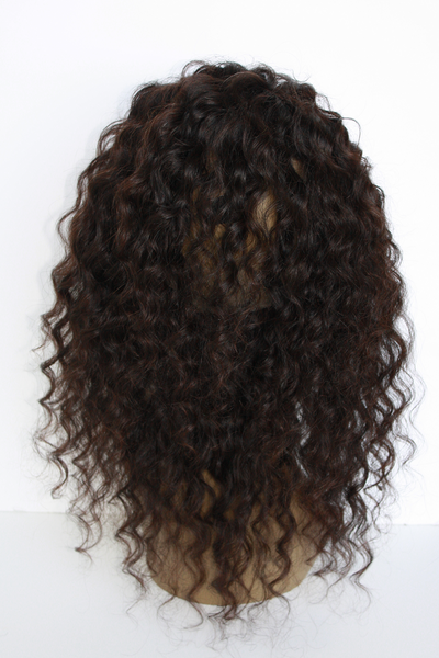 Girl wearing deep wave hair back view - vip