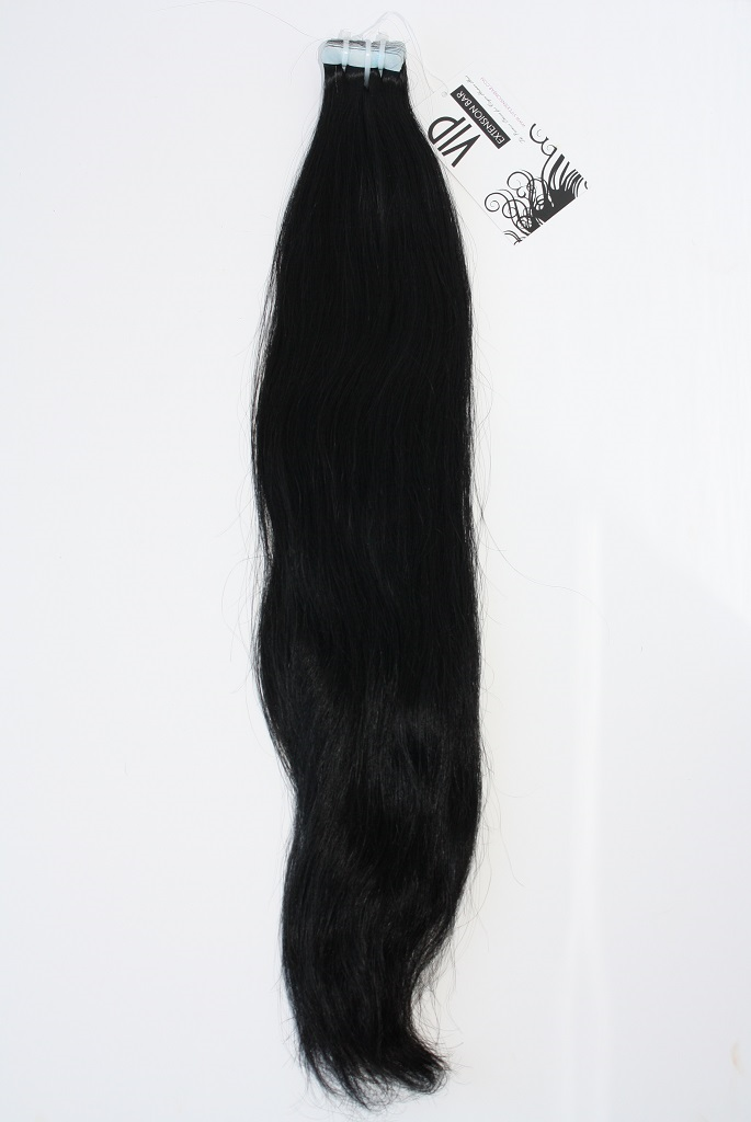 Indian Straight Clear Hair Tape in Black