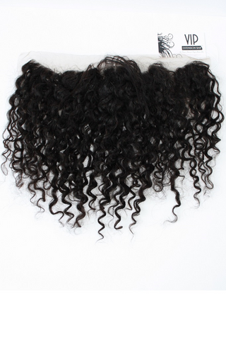 Mongolian Curly Lace Frontal Closure - VIP
