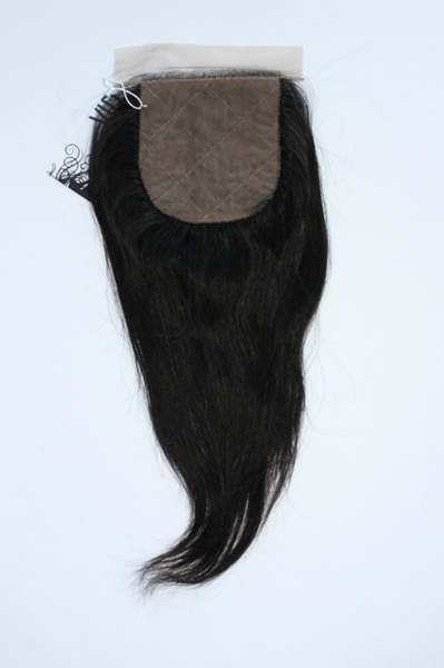 Malaysian Natural Straight Silk Closure - back