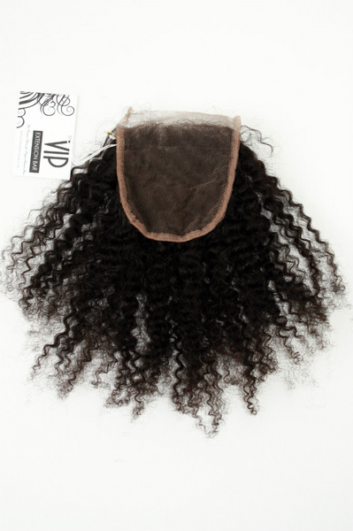 Malaysian Afro Kinky lace closure - back