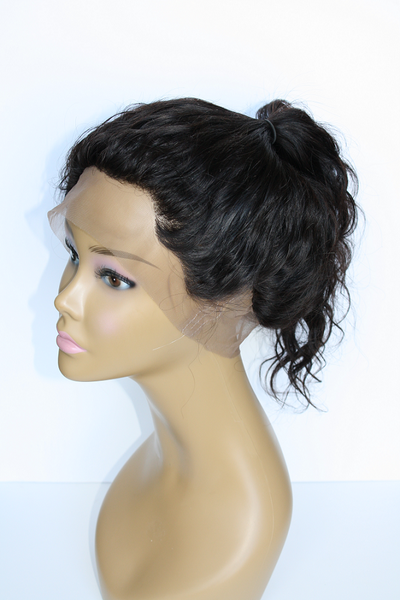 Mannequin wearing Brazilian body wave 360 frontal