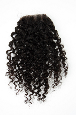 Mongolian Curly Lace Closure - front