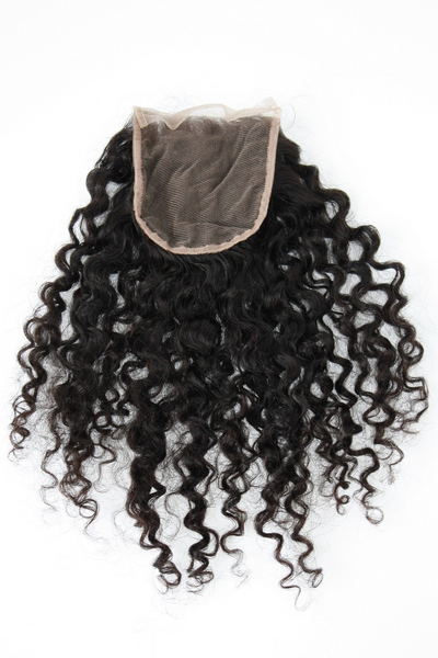 Mongolian Curly Lace Closure - back