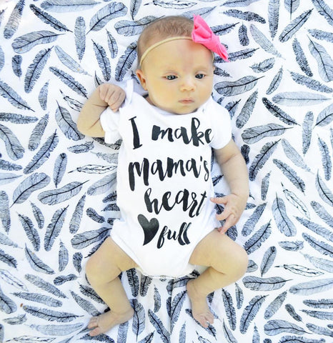 I Make Mama's Heart full Onesie - Tink and Key - 1