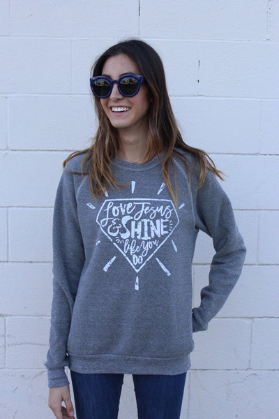 Love Jesus and Shine like you do PULLOVER - Tink and Key - 1