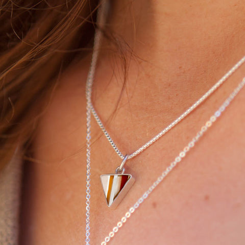 Surfboard Triangle Necklace | Upcycled, Recycled, Repurposed, Reimagined | Changing Tides